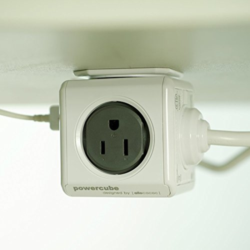 POWERCUBE Dual USB Port Power Strip with 5ft US Wire Extension ...