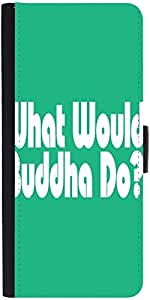Snoogg What Would Buddha Do 2907 Designer Protective Phone Flip Case Cover For Phicomm Energy 653 4G
