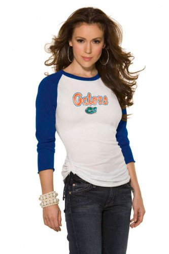 Florida Gators Women's 3/4 Sleeve Raglan Top - by Alyssa Milano at Amazon.com