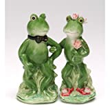 Appletree Design Alfrogo And Frogalina Frog Salt And Pepper Set, 4-1/4-Inch