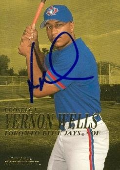 Vernon Wells autographed Baseball Card (Toronto Blue Jays) 2000 Skybox Dominion #269 rookie