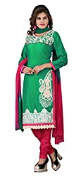 7 Colors Lifestyle Women's Cotton Salwar Suit Dress Material(ALUDR2005AIRA_Green)