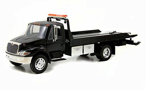 International Durastar 4400 Flat Bed Tow Truck, Black - Jada Toys 92351 - 1/24 scale Diecast Model Toy Car (International Toy Trucks compare prices)