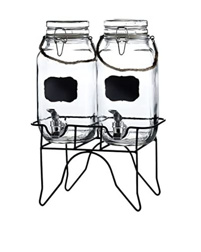 Style Setter Newcastle Set of 2 Beverage Dispensers with a Stand