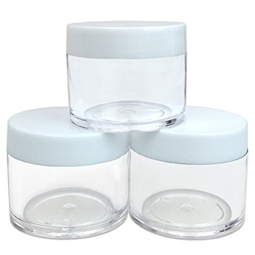 Beauticom® High Quality 30G/30ML (1 Oz) Round Clear Jars with White Lids for Cosmetics, Medication, Lab and Field Research Samples, Beauty and Health Aids - BPA Free (Quantity: 3 Pieces) (Plastic Jars 1 Ounce compare prices)