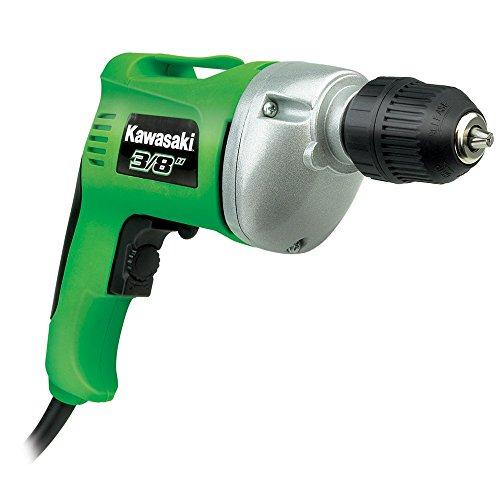 Kawasaki 840176 Green 5.8 Amp 3/8-Inch Variable Speed Reversible Drill (Kawasaki Drills compare prices)