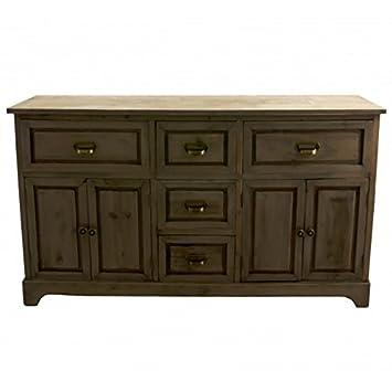 Buffet di sala da pranzo mobili portaoggetti Credenza in legno con porta e due cassetti 34x 71,5x 124,5cm