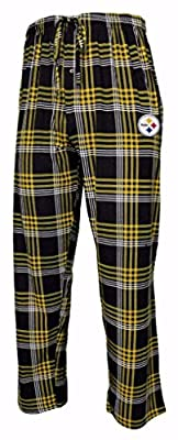 Pittsburgh Steelers NFL Men's Plaid Pajama Pants with Embroidered Logo