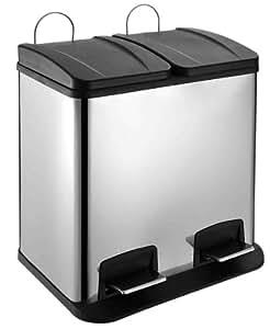 50 Liter Edelstahl Mülleimer Mülltrennung