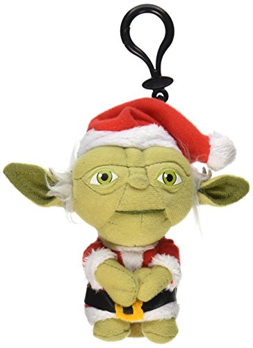"Underground Toys Star Wars Mini Santa Yoda Talking 4"" Plush"