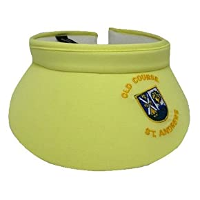 Womens/Ladies Yellow Old Course St Andrews Golf Visor