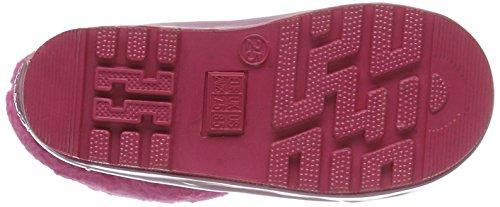 Playshoes Sterne aus Naturkautschuk gefüttert 189332, Mädchen Halbschaft Gummistiefel, Pink (original 900), 30/31 EU -