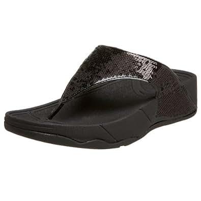 FitFlop Women's Electra Sandal,Black,5 M US