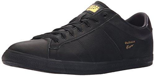 Onitsuka Tiger Lawnship Classic Tennis Shoe,Black/Black,10.5 M US Men's/12 W US Women's
