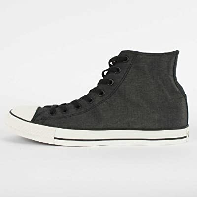 Converse Chuck Taylor All Star Hi Sneaker,Black/White,Men's 10, Women's 12 M US