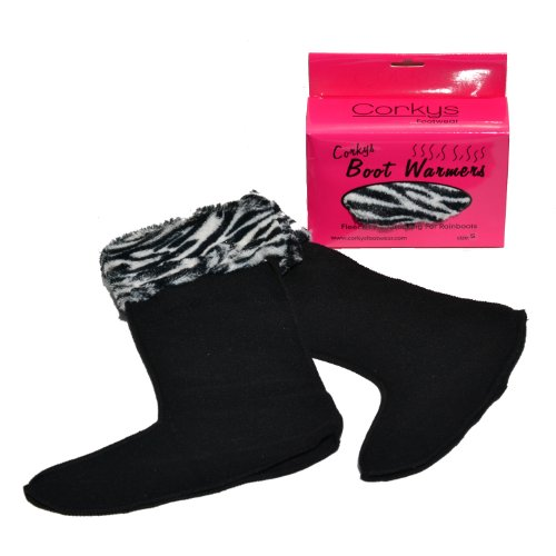 Womenu0026#39;s Corkyu0026#39;s Fleece Socks Shoe Snow Rain Boot Warmers Cold Weather LinersMediumZebra ...