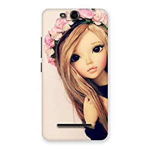 Pink Rose Doll Back Case Cover for Micromax Canvas Juice 3 Q392