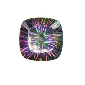 Rainbow Mystic Coated Quartz Concave Cushion Unset Loose 16mm (1)