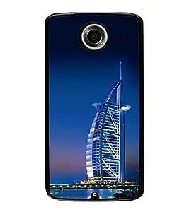Vizagbeats Burj Al Arab Back Case Cover for GOOGLE NEXUS 6