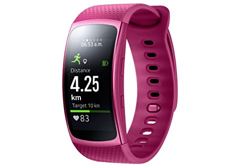 Samsung Gear Fit II - Smartwatch mit Herzfrequenzmessung und Notifications Pink (L)