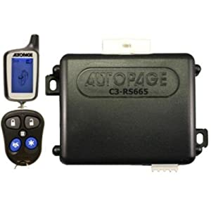 AutoPage 2-Way, 3-Channel Vehicle Security System/Car Alarm/Remote Start  - C3-RS6652W