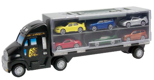 """Motormax 14"""" Truck Carry Case With Six Cars front-138739"""