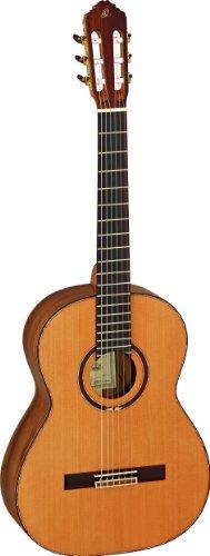 M7CS Konzertgitarre Custom Master Selection Serie in 4/4 Größe handgefertigt in Spanien vollmassiv natur hochglänzendes Finish inklusive Luxuskoffer