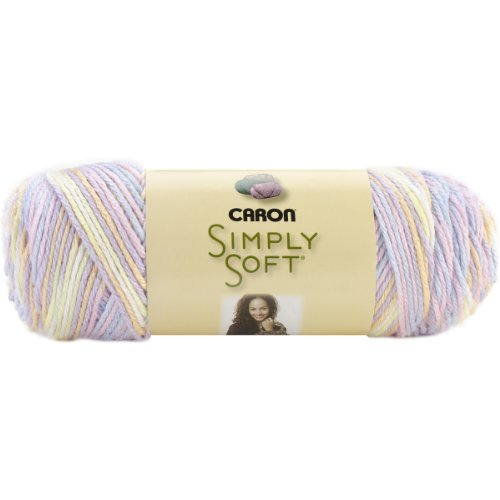 Caron Simply Soft Print Yarn, 4 Ounces/315 Yards, Baby Brights, Single Ball