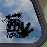 DISNEY Black Decal DONALD DUCK Car Truck Window Sticker