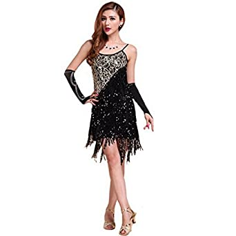 Women's Latin Dance Dress Rumba Dance Ballroom Fancy Dress Costume S Size