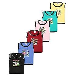 SR Kids Wear Boys round neck t shirts (SRK_ALS_PC6_0001-5-6yrs_Multi_5-6Yrs)