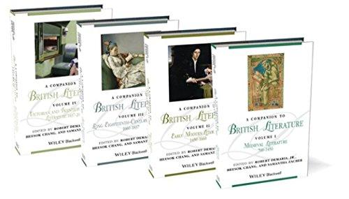 A Companion to British Literature, 4 Volume Set