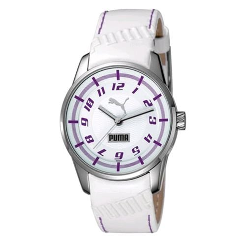 PUMA Women's PU102022003 Race Cat II White Dial Watch