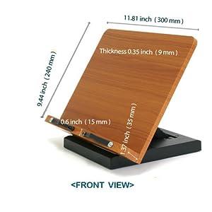"""Lilac Book Reader Stand Holder (11.8 X 9.4"""" Bookstand / Bookstands / Holder / Cookbook / Music)"""""""