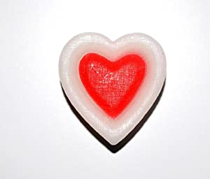 DFL Heart-Shaped Flameless led Candle,White And Red Heart