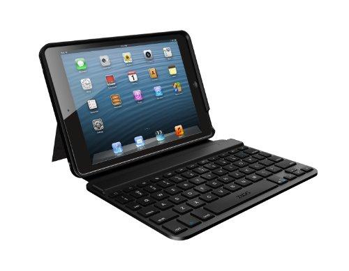Zagg Folio Case With Backlit Bluetooth Keyboard For Apple Ipad Mini-Black