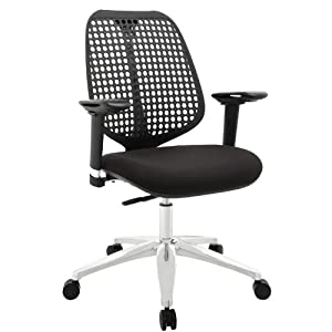 LexMod Reverb Adjustable Armrests Office Chair, Black