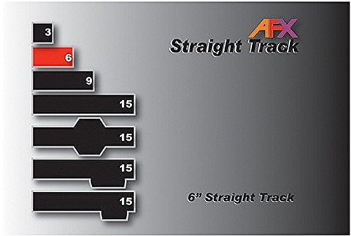 "AFX Track, Straight 6"" Pair AFX70608 - 1"