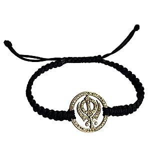 Sikh Khanda Gold Bracelet 22mm in 14K studded with Certified Diamonds