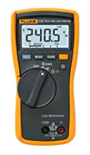 Fluke 113 True-RMS Utility Multimeter with Display Backlight, 9V Alkaline Battery, 600V Voltage