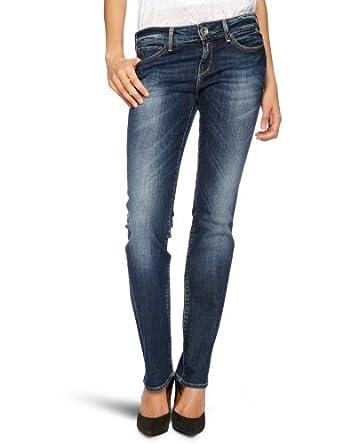 Replay Damen Jeans Normaler Bund Pearl Straight Fit WX559.000.345122,  Gr. 25/32, Blau  (blue denim) (007)