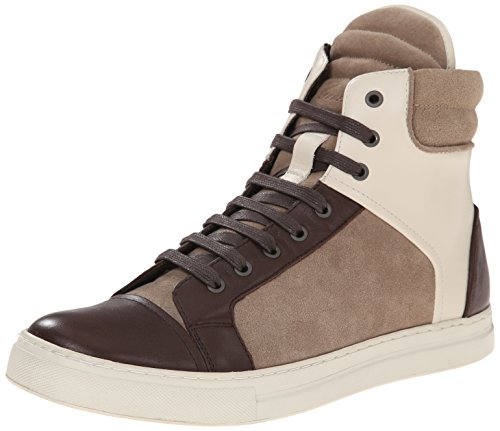 Kenneth Cole New York Men's Double Header LW Fashion Sneaker, Taupe/Ivory, 12 M US