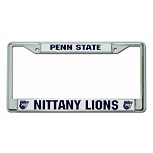 NCAA Penn State Nittany Lions Chrome License Plate Frame