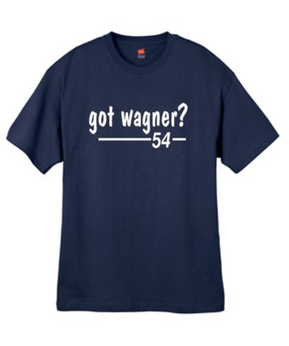Mens Got Wagner ? Navy Blue T Shirt Size Large (Wagner Jersey compare prices)