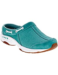 Easy Spirit Women S Travelport Mule Turquoise/Turquoise Suede 9 B(M) US