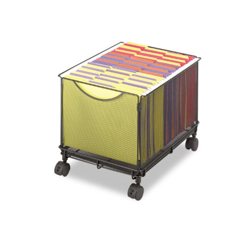 Safco Products Onyx Mesh Rolling File Cube