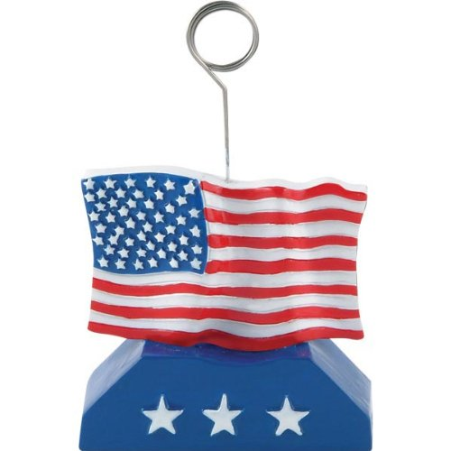 Flag Photo/Balloon Holder Party Accessory (1 count)