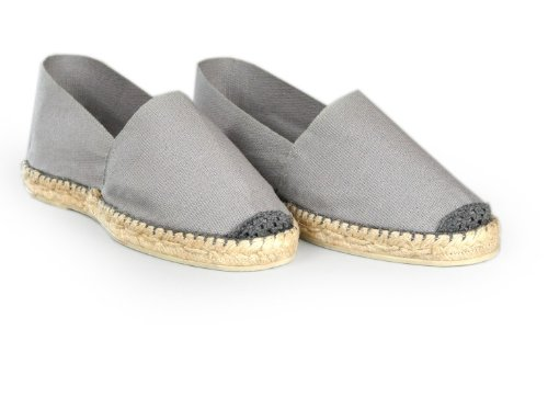 Espadrille-homme-gris-fabrication-artisanale-made-in-pays-basque-france