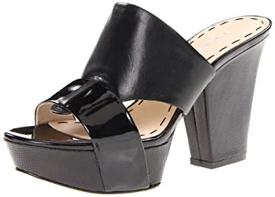 Nine West Women's Illuminate Platform Sandal,Black/Black Leather,7 M US