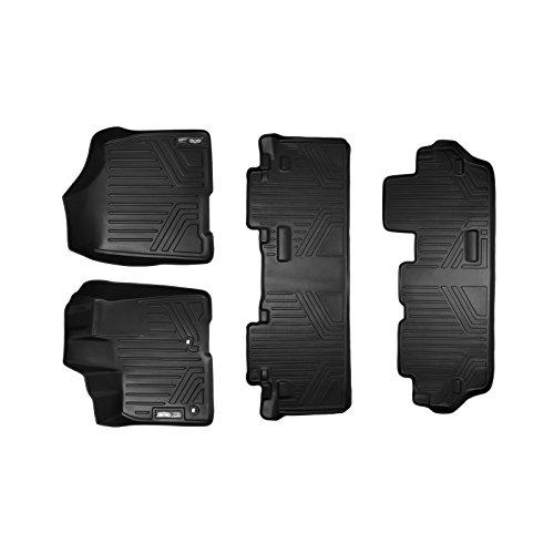 Maxliner MAXFLOORMAT Three Row Set Custom Fit All Weather Floor Mats For Select Toyota Sienna Models - (Black)